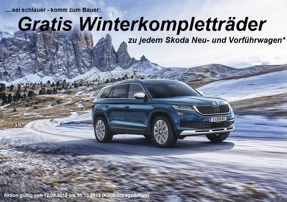 Winterreifen, Winterräder gratis zu einem Neuwagen oder Vorführwagen, Autobauer Bruck an der Leitha
