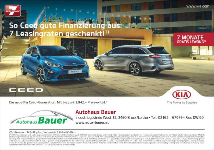 Authaus Bauer - Kia Ceed Kredit Kia Ceed auf Kredit