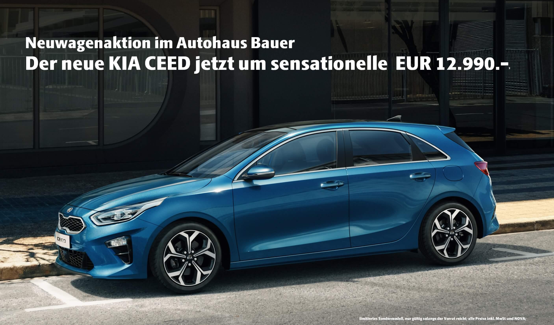 Der neue Kia Ceed 2019 im Autohaus Bauer ab 12990 €