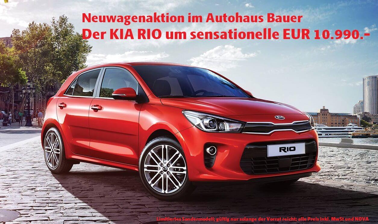 KIA RIO Aktion im Autohaus Bauer!